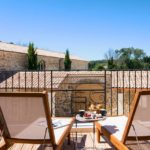 Chambre d'hôtel Massillan - Vue terrasse- Uchaux